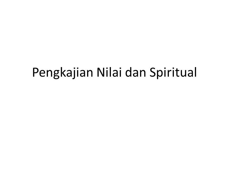 Pengkajian Nilai dan Spiritual