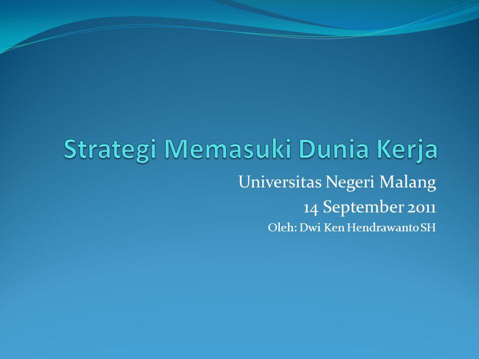 Universitas Negeri Malang 14 September 2011 Oleh: Dwi Ken Hendrawanto SH