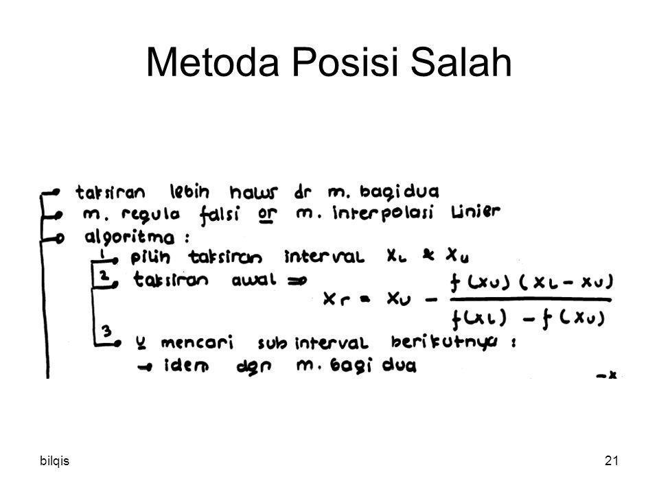 bilqis21 Metoda Posisi Salah