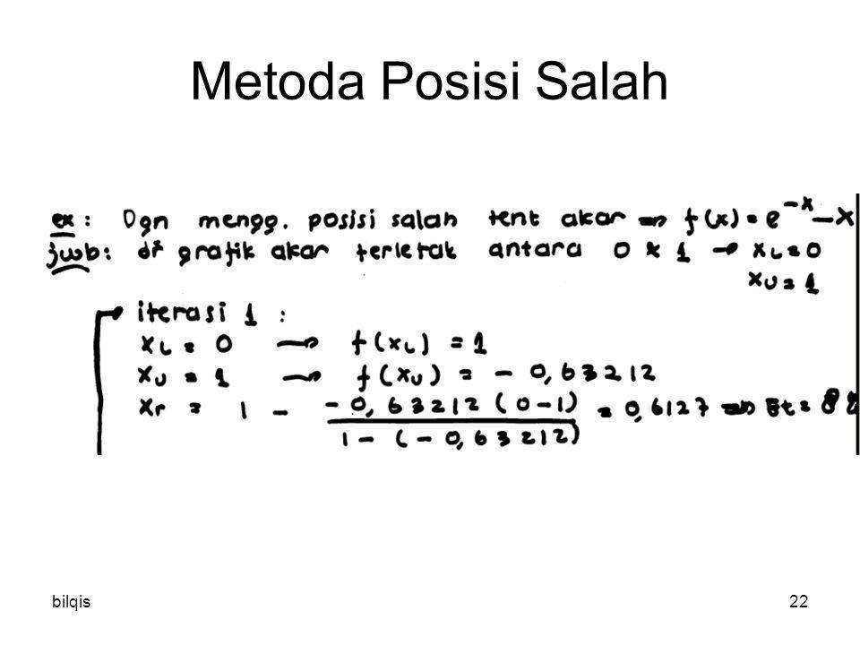 bilqis22 Metoda Posisi Salah