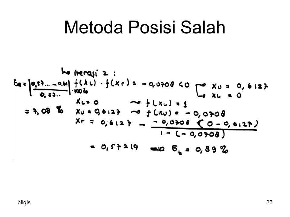 bilqis23 Metoda Posisi Salah