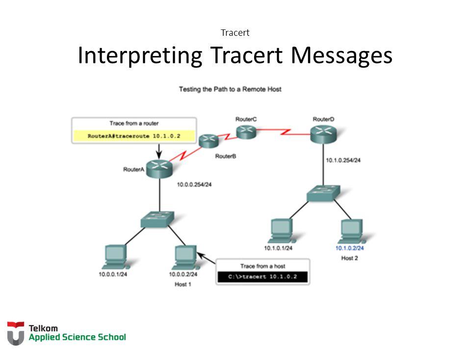 Tracert Interpreting Tracert Messages