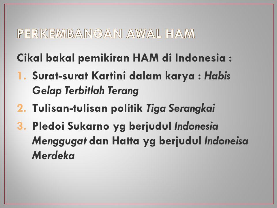 Soekarno & Soepomo mengajukan pendapat bahwa hak-hak warga negara tidak perlu dicantumkan dalam pasal-pasal konstitusi Hatta & Yamin menyatakan sebaliknya, yaitu perlunya mencantumkan pasal mengenai kemerdekaan berserikat, berkumpul dan mengeluarkan dgn lisan & tulisan di dalam UUD