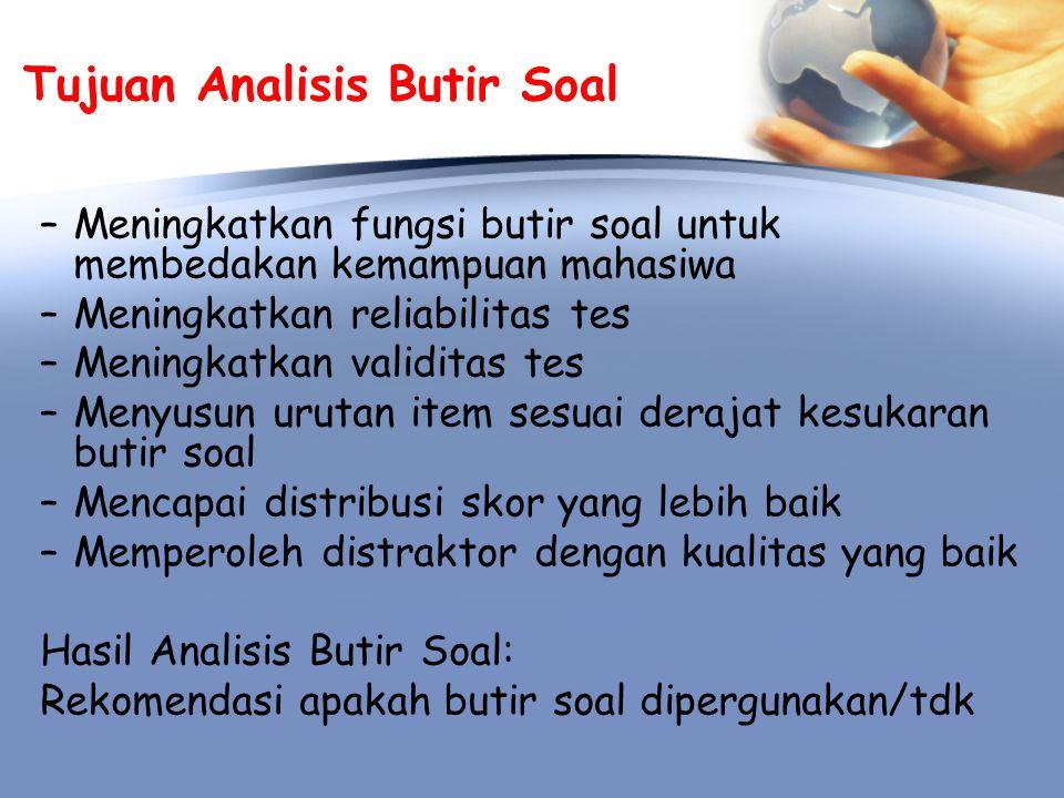 Analisis Butir Soal A.
