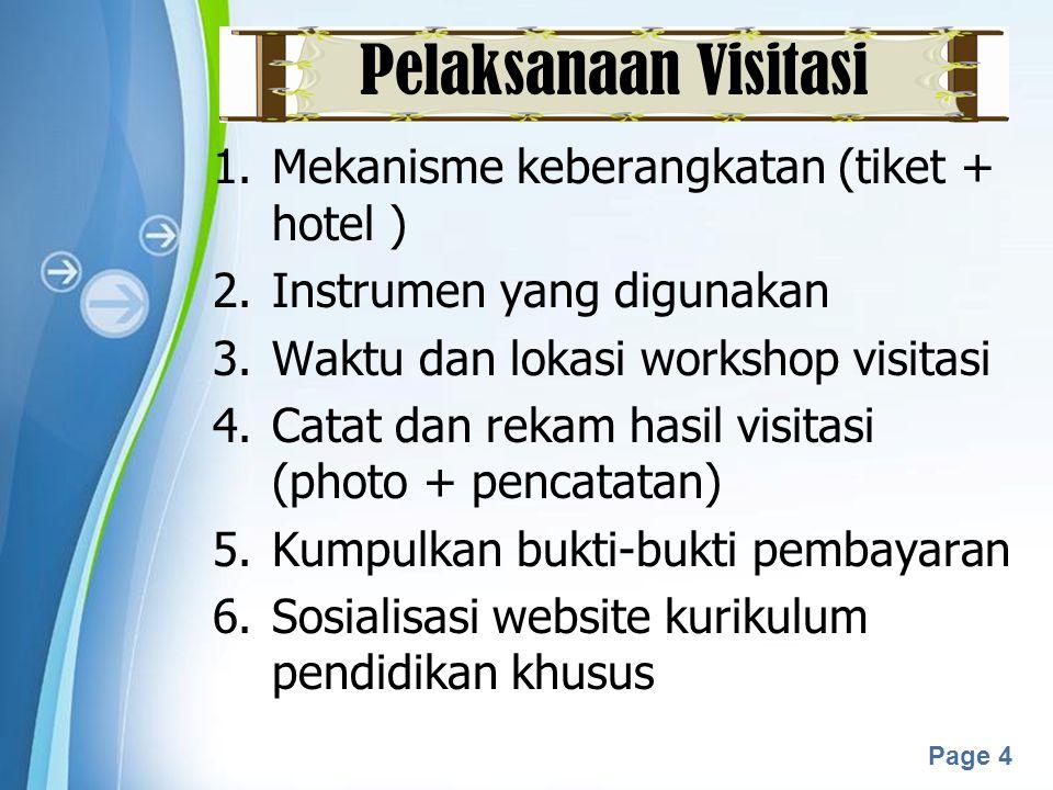 Powerpoint Templates Page 5 Setelah Visitasi 1.Buat laporan tertulis 2.Kirimkan ke Subdit Pembelajaran  email: 1.