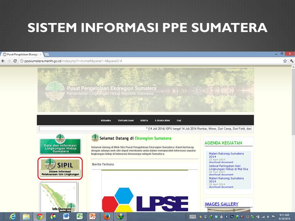 SISTEM INFORMASI PPE SUMATERA