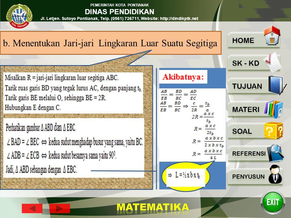 PEMERINTAH KOTA PONTIANAK DINAS PENDIDIKAN Jl. Letjen. Sutoyo Pontianak, Telp. (0561) 736711, Website: http://dindikptk.net 14 2 A C B O a b c D R tbt