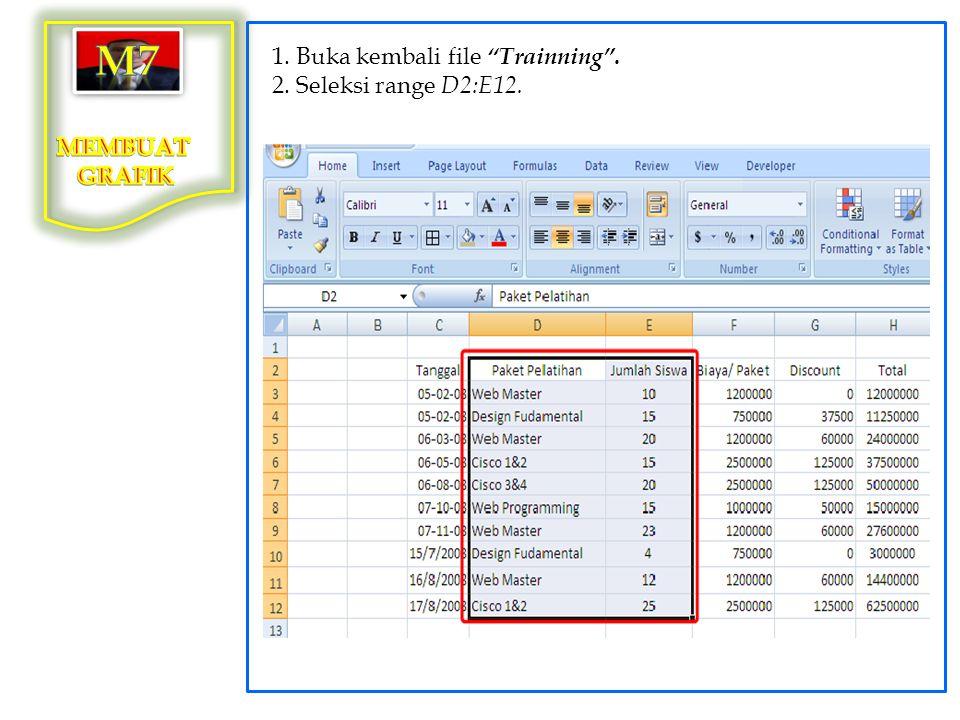 3. Klik tab menu Insert > Bar > 2-D Bar.