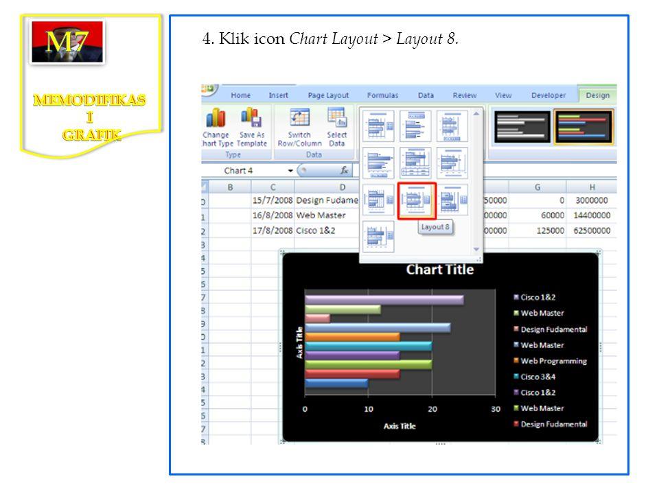 3. Pada kotak dialog Change Chart Type, pilih Pie > pie in 3 D, kemudian klik tombol OK.