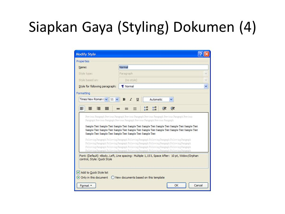 Siapkan Gaya (Styling) Dokumen (4)