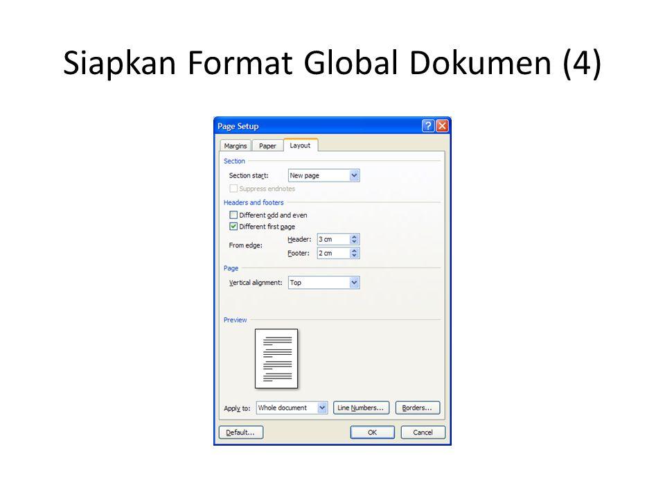 Siapkan Properti Dokumen (1)