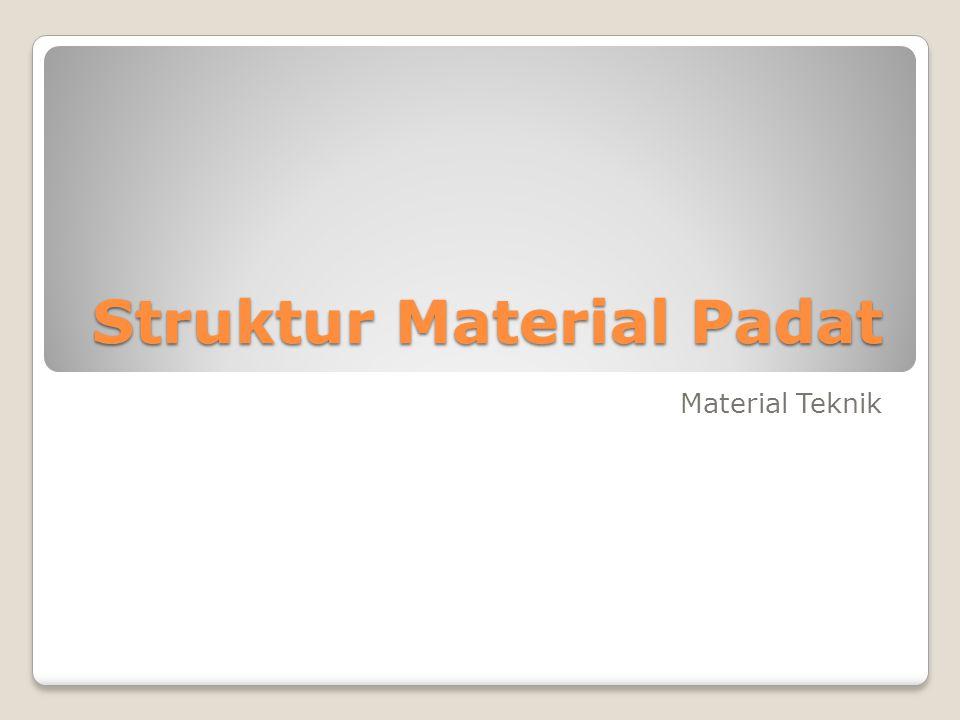 Struktur Material Padat Material Teknik