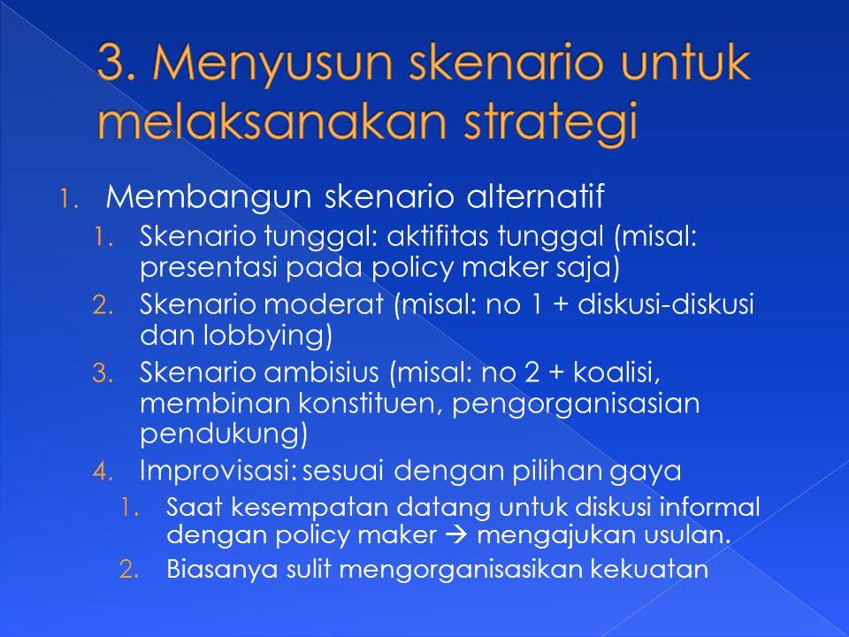 1. Membangun skenario alternatif 1.