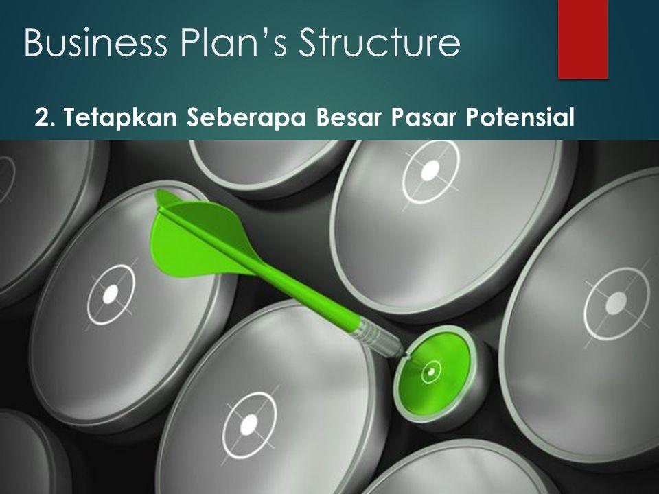 Business Plan's Structure 2. Tetapkan Seberapa Besar Pasar Potensial