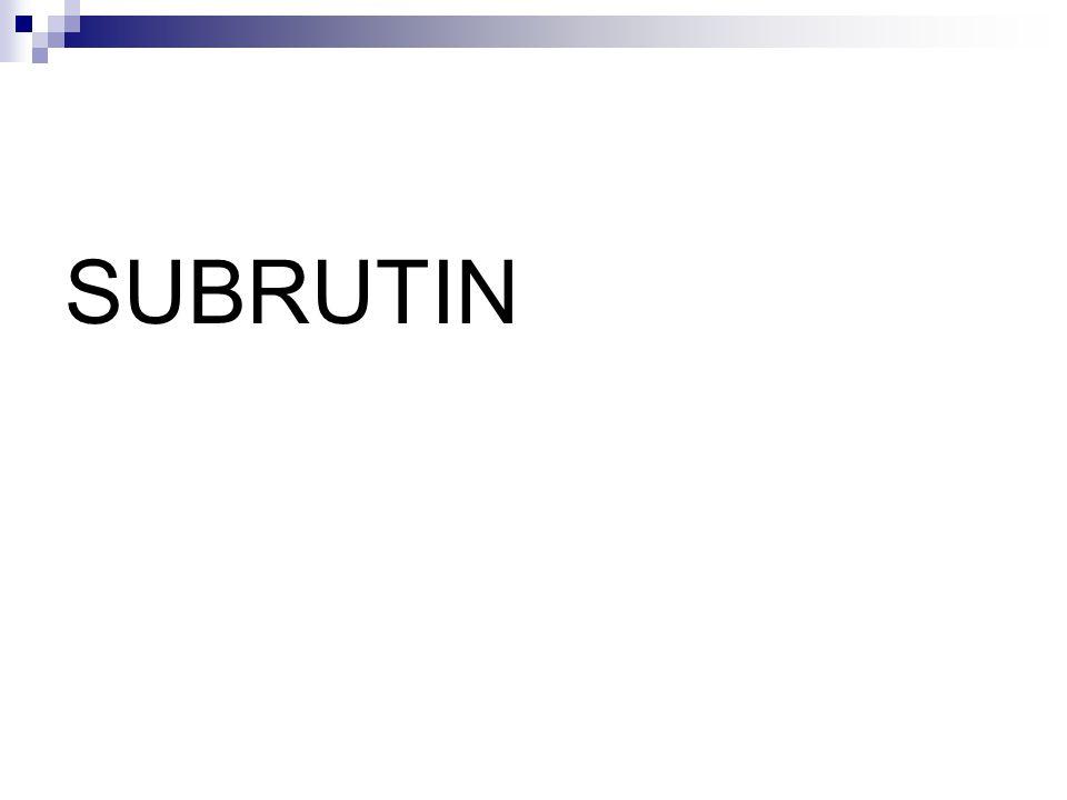 SUBRUTIN