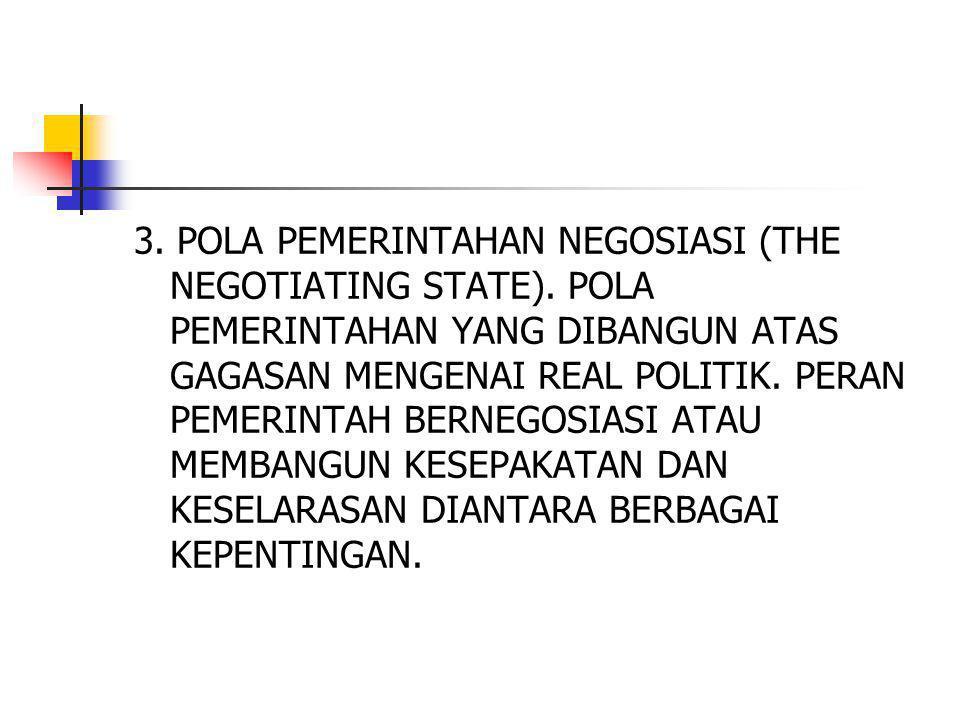 3.POLA PEMERINTAHAN NEGOSIASI (THE NEGOTIATING STATE).