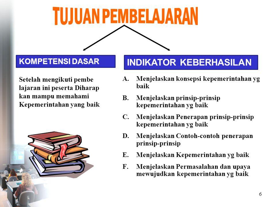 26 DASAR PENERAPAN 1.Pembukaan UUD 1945 2.TAP MPR NO 1V/MPR/1999 terwujudnya masyarakat indonesia yang damai demokratis nerkeadilan berdayasaing maju dan sejahtera.