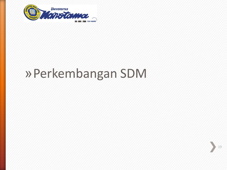 » Perkembangan SDM 19