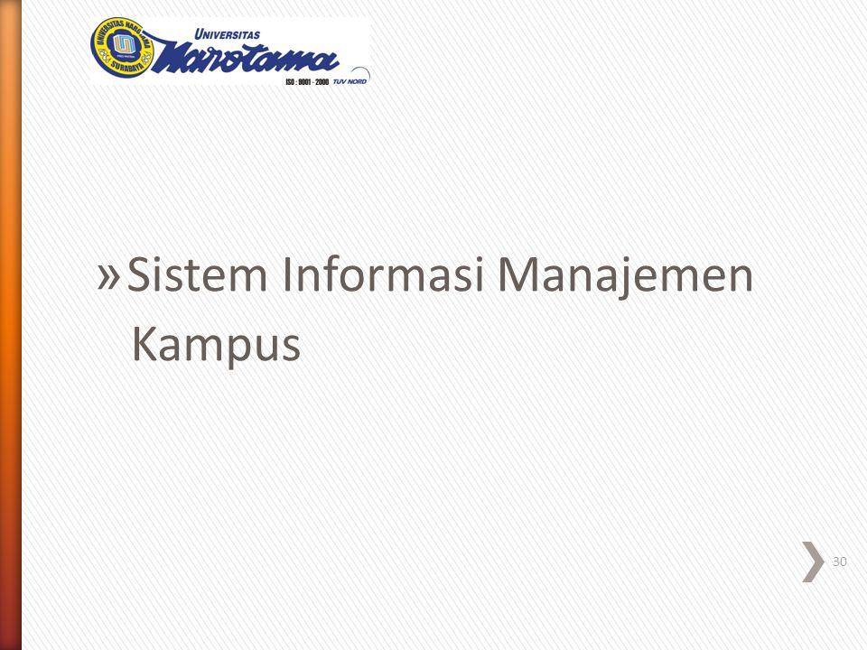 » Sistem Informasi Manajemen Kampus 30