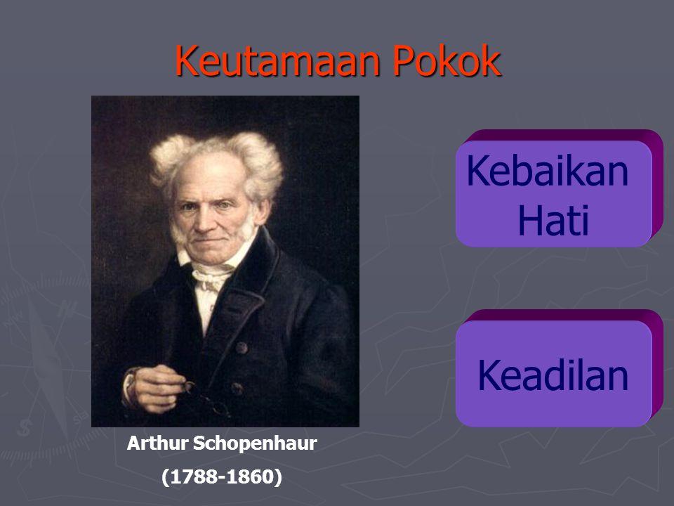 Keutamaan Pokok Kebaikan Hati Keadilan Arthur Schopenhaur (1788-1860)