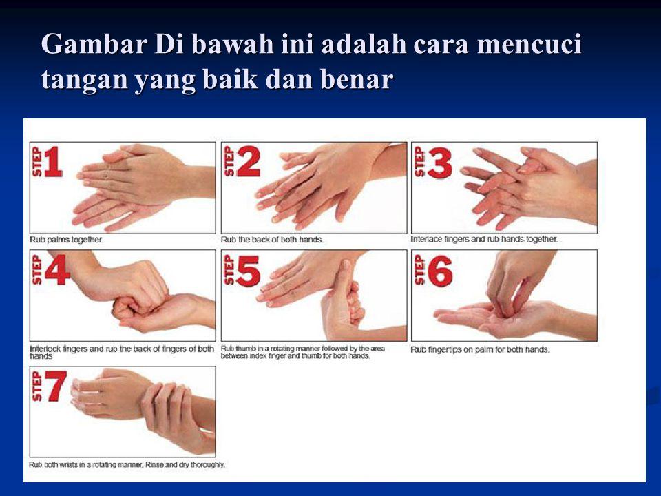 Gambar Di bawah ini adalah cara mencuci tangan yang baik dan benar