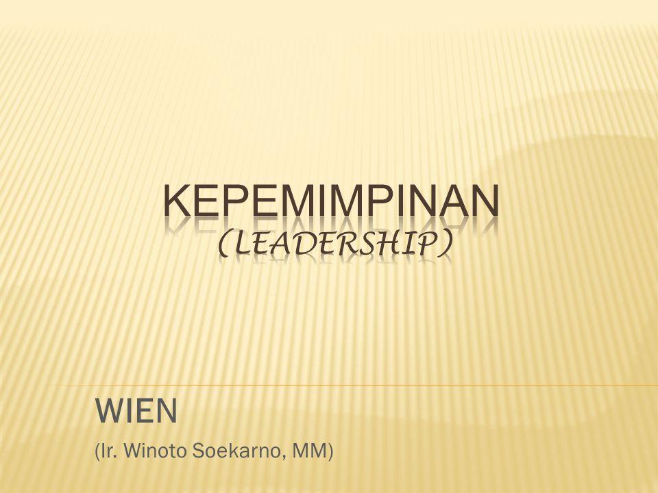 WIEN (Ir. Winoto Soekarno, MM)
