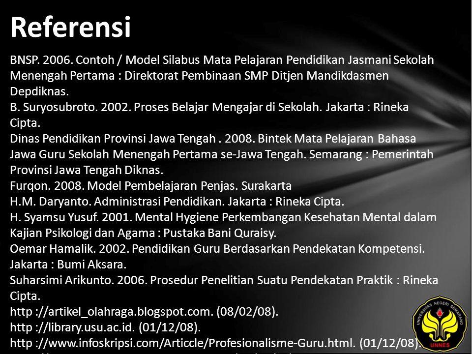Referensi BNSP. 2006.