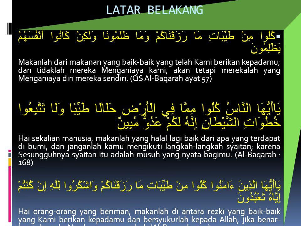 Akibat MAKANAN TIDAK HALAL DALAM ISLAM