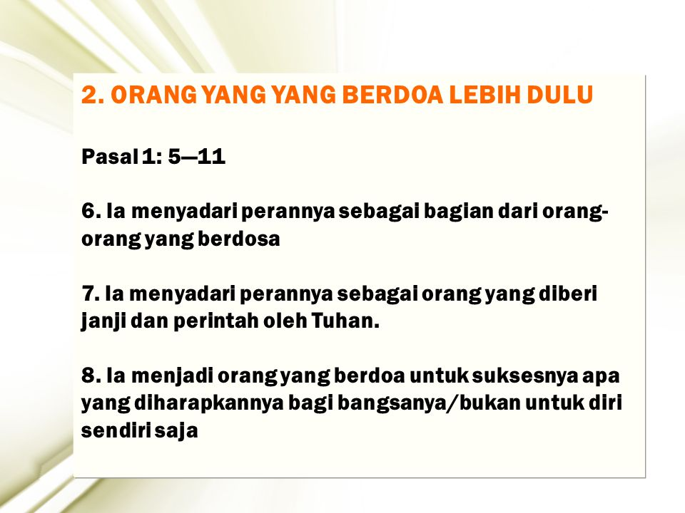 28 1.Membangun Percaya diri seperti David….