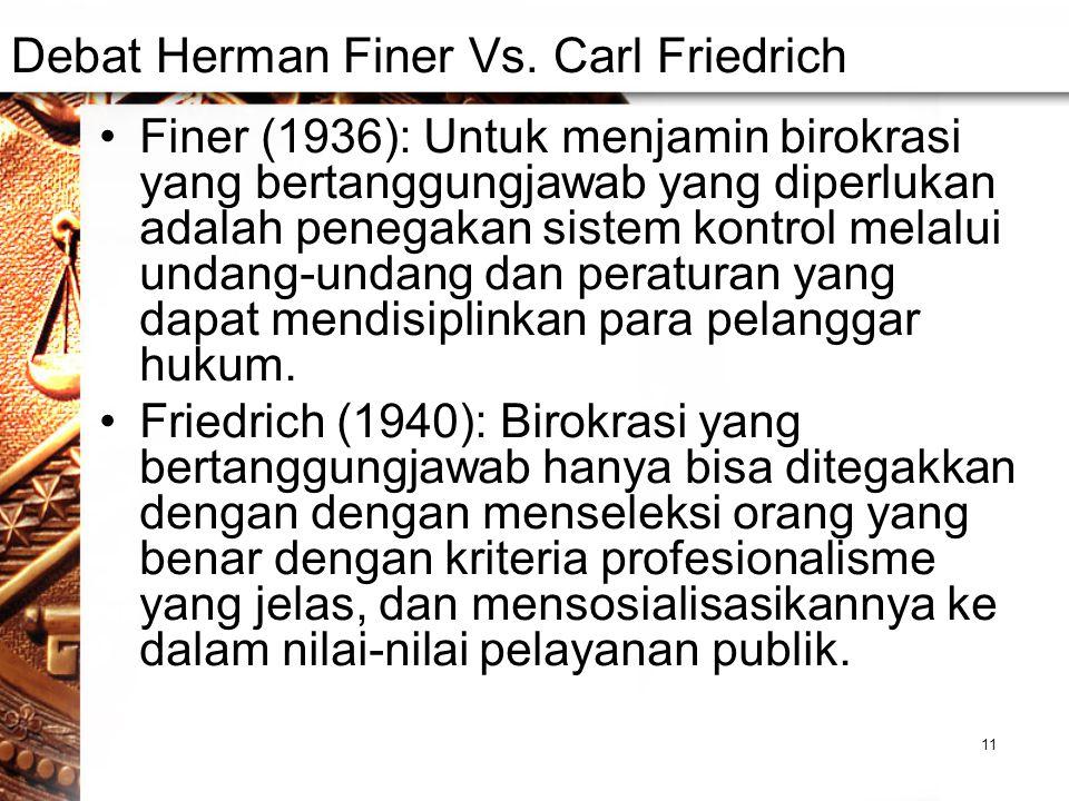 Debat Herman Finer Vs.