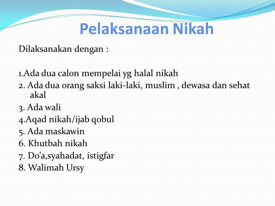 4.Li'an: suami dan istri saling melaknat.