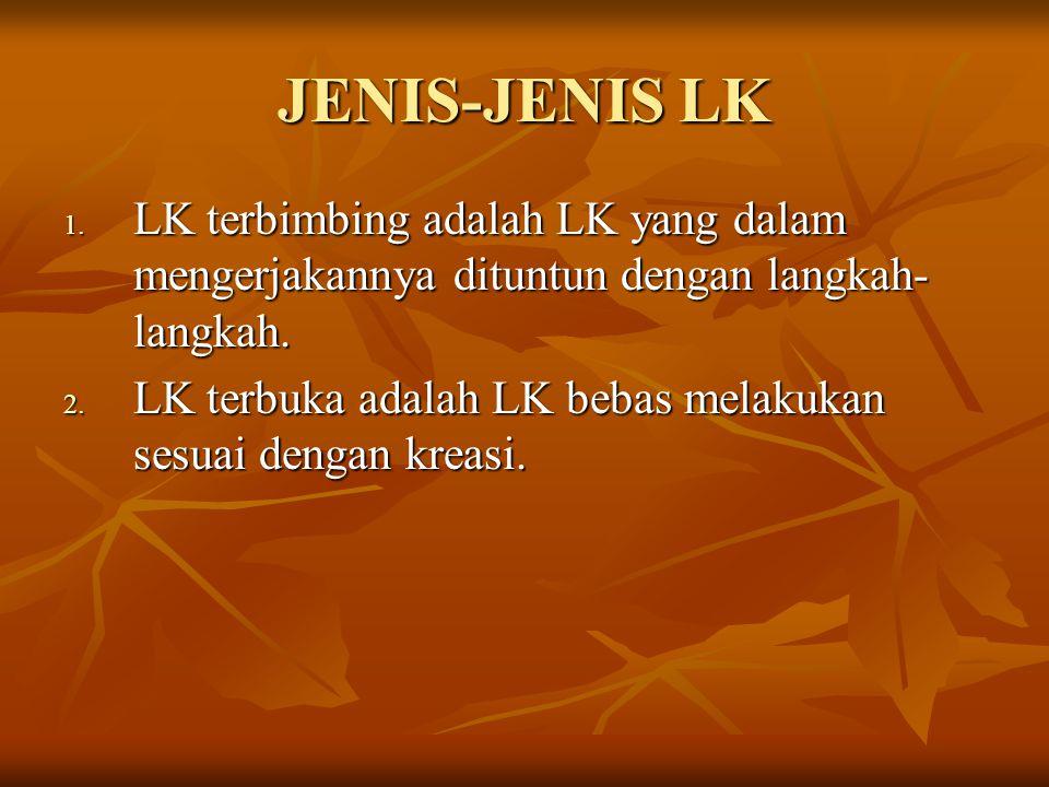 JENIS-JENIS LK 1.