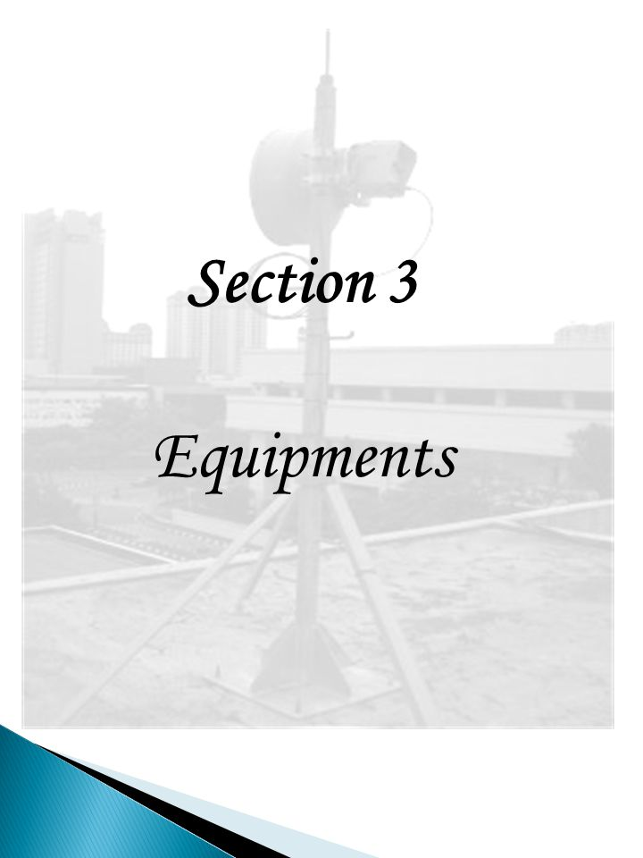 Section 3 Equipments