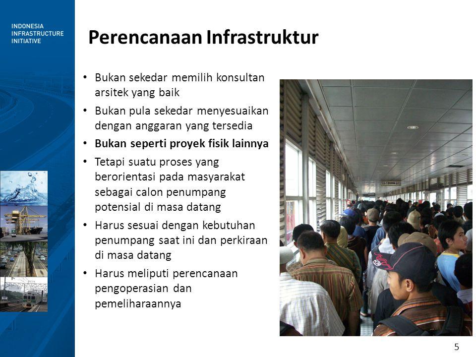 5 Perencanaan Infrastruktur Bukan sekedar memilih konsultan arsitek yang baik Bukan pula sekedar menyesuaikan dengan anggaran yang tersedia Bukan sepe