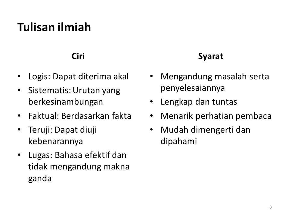 Kaidah bahasa Indonesia 9