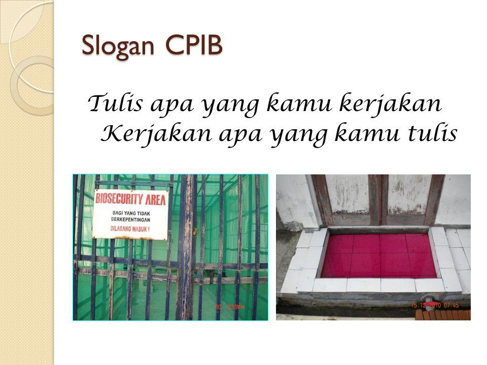 Slogan CPIB Tulis apa yang kamu kerjakan Kerjakan apa yang kamu tulis