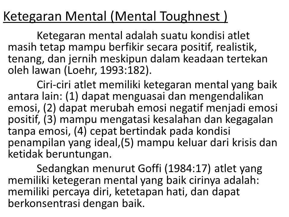 Tahapan Latihan Ketegaran Mental : 1.