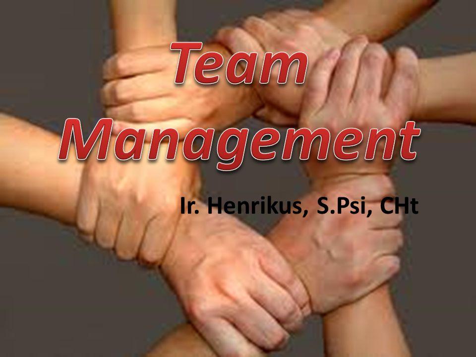 Team Management adalah tehnik, proses dan alat yang dipakai dalam mengkoordinasi sebuah group yang terdiri dari individu individu yang mempunyai kesamaan tujuan (goal).