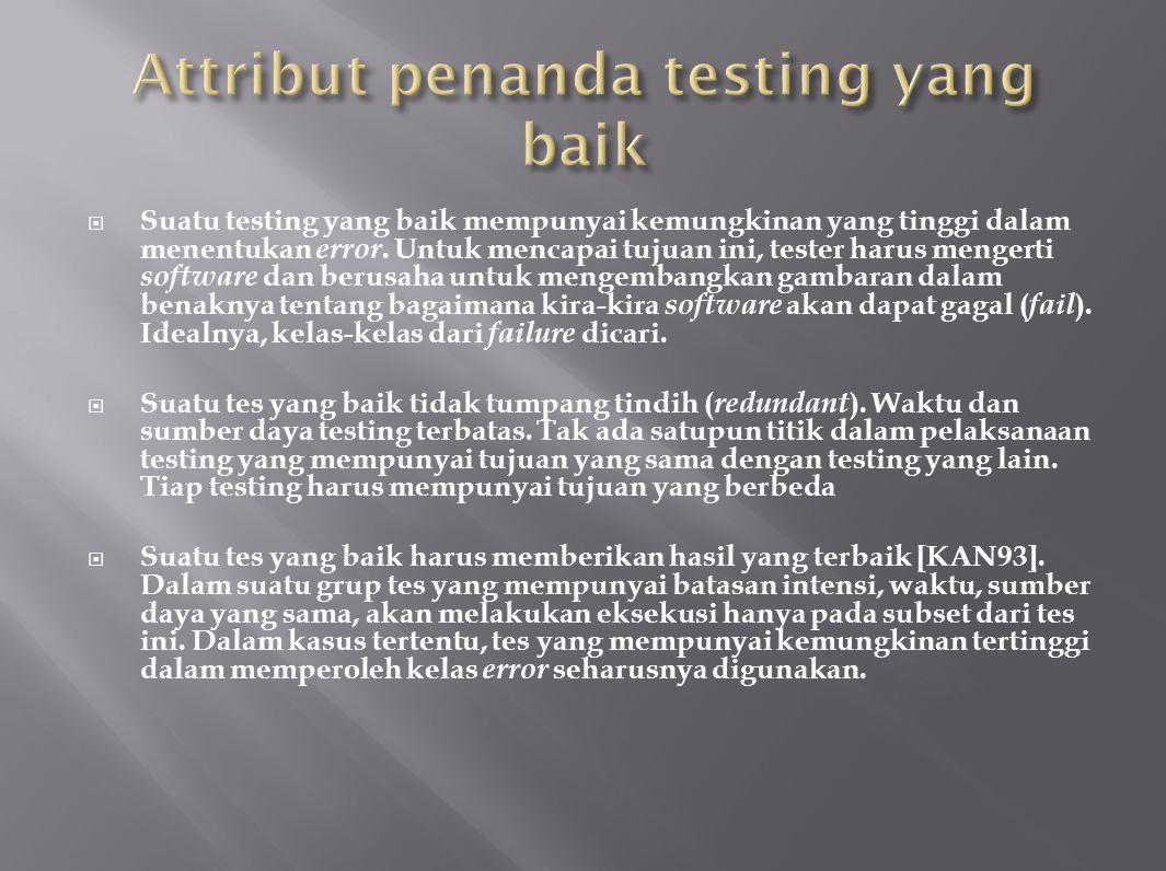  Suatu tes yang baik harusnya tidak terlalu sederhana namun juga tidak terlalu komplek.