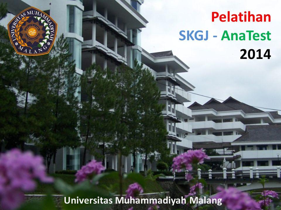 Pelatihan SKGJ - AnaTest 2014 Universitas Muhammadiyah Malang