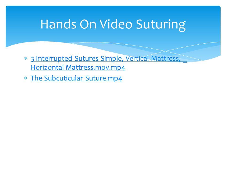  3 Interrupted Sutures Simple, Vertical Mattress, _ Horizontal Mattress.mov.mp4 3 Interrupted Sutures Simple, Vertical Mattress, _ Horizontal Mattres