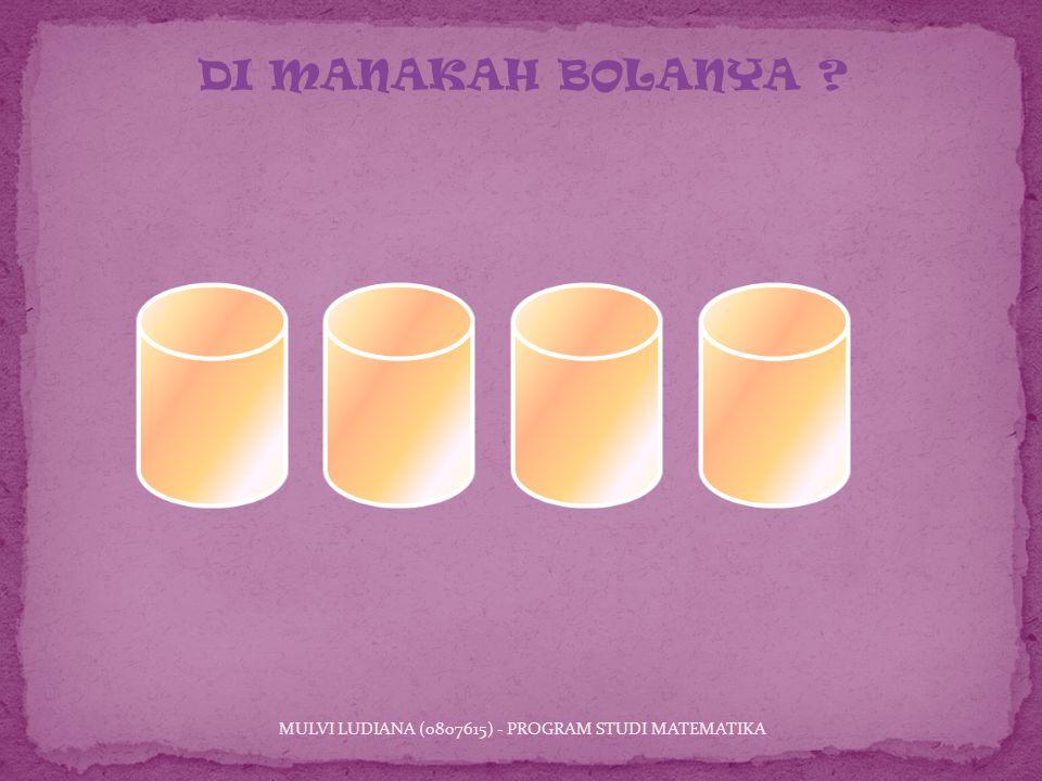 MULVI LUDIANA (0807615) - PROGRAM STUDI MATEMATIKA DI MANAKAH BOLANYA ?