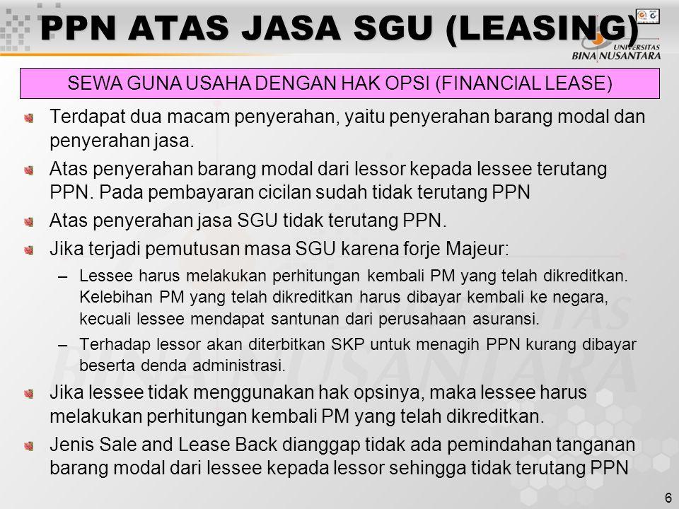 17 PPN ATAS JASA BOGA/KATERING Berdasarkan KMK No.
