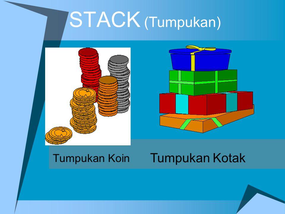 Operasi Pop K A K K A K A K A K A K K A K Operasi POP Hasil ='' Hasil = K Hasil = KA Hasil = KAK Hasil = KAKA Hasil = KAKAK Kalimat = hasil  Polindrom