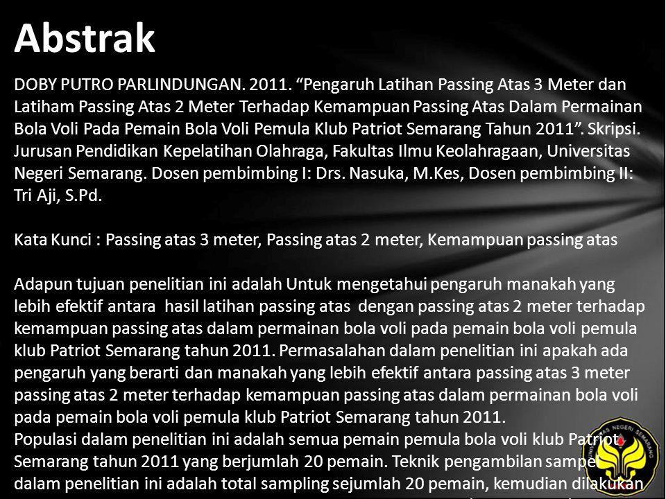 Abstrak DOBY PUTRO PARLINDUNGAN. 2011.