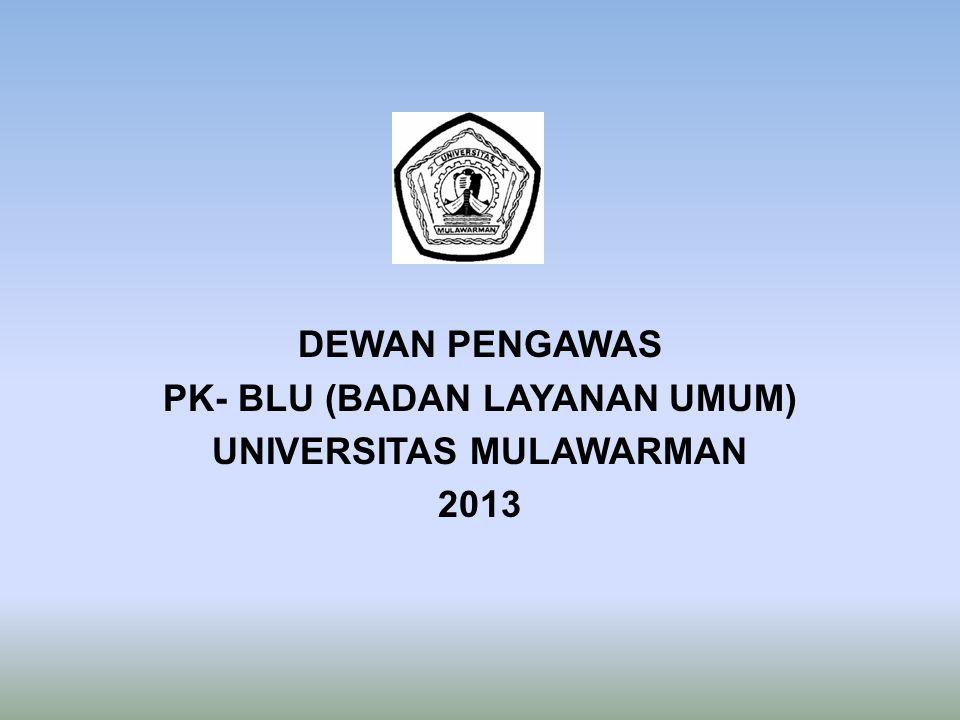 DEWAN PENGAWAS PK- BLU (BADAN LAYANAN UMUM) UNIVERSITAS MULAWARMAN 2013