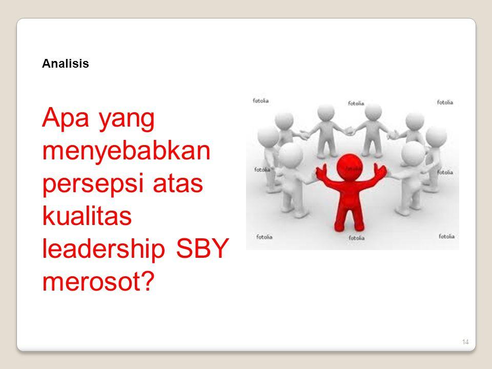 Analisis Apa yang menyebabkan persepsi atas kualitas leadership SBY merosot 14
