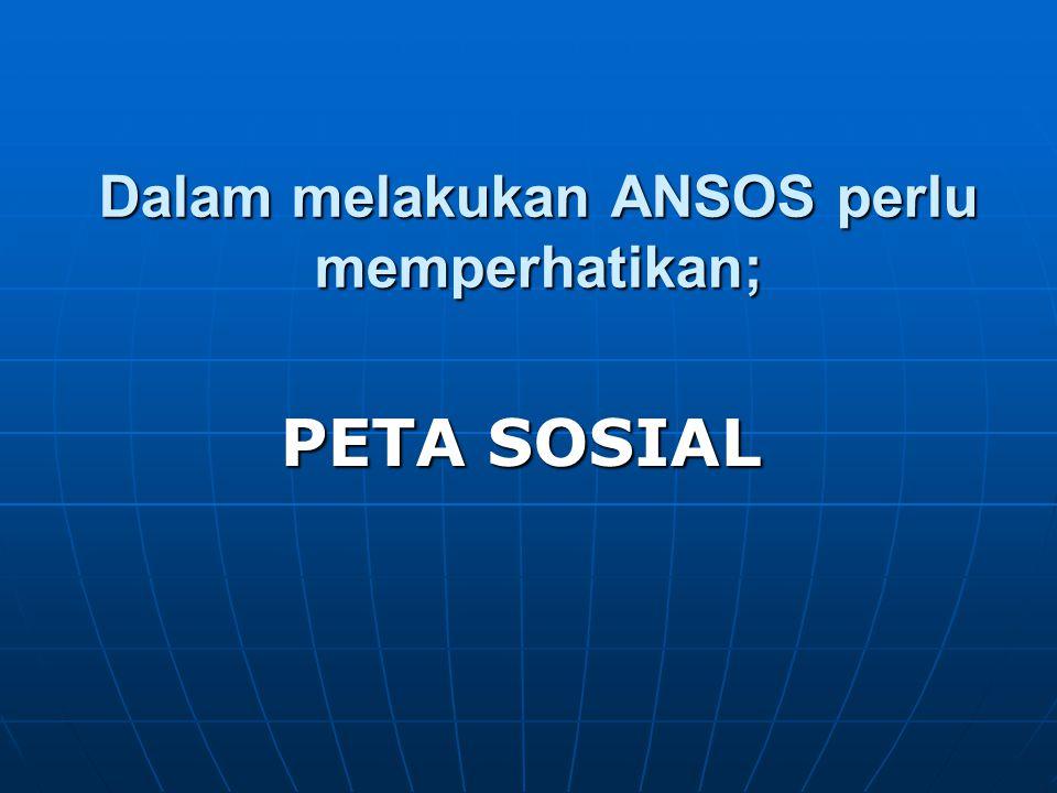 PETA SOSIAL adalah; Berbagai struktur yang membentuk situasi dengan bermacam-macam cara.