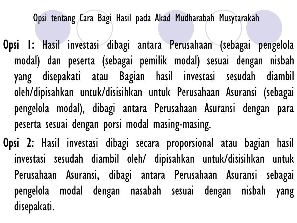 Penentuan dan Pembagian Hasil Investasi (Lanjutan) 6.