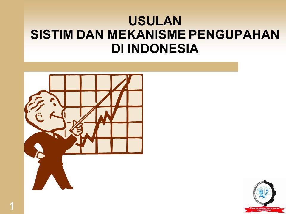 USULAN PERBAIKAN KEDEPAN 1) Revisi UU 13/2003 Terkait Dengan Kebijakan Upah atau Segera Keluarkan PP Tentang PENGUPAHAN KEBIJAKAN UPAH (UU 13/2003) NoSAAT INIUSULAN 1 UPAH MINIMUMUPAH HIDUP LAYAK 2 PERUNDINGAN UPAH (PKB) STRUKTUR & S.